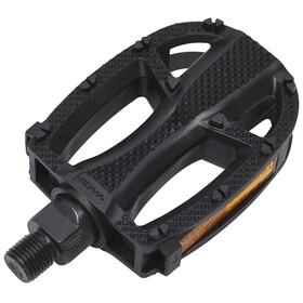XLC Plast Pedal plast, med refleks Svart